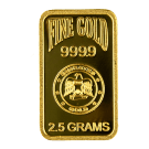 2.5 Gram Blister Pack Gold Bar Emirates Gold