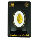 2.5 Gram Oval Investment Gold Bar Emirates Gold Certicard