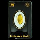 Emirates Gold 2.5 Gram Certicard Oval Investment Gold Bar