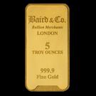 Baird & Co 5oz Minted Gold Bar
