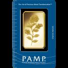 50g Gold Bar PAMP Rosa Certicard