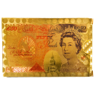 Gold Coloured Foil Playing Cards with £50 Note Design