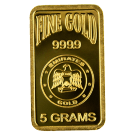 5 Gram Blister Pack Gold Bar Emirates Gold
