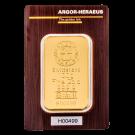 100 Gram Gold Bar Argor Heraeus Certicard