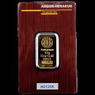 10 Gram Gold Bar Argor Heraeus Certicard