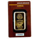 1oz Gold Bar Argor Heraeus Certicard