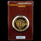 1oz Gold Round Bar Argor Heraeus Certicard