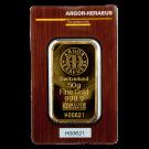 50 Gram Gold Bar Argor Heraeus Certicard