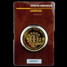 Argor Heraeus 50 Gram Certicard Gold Round Bar