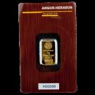 5 Gram Gold Bar Argor Heraeus Certicard
