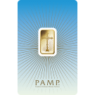 5g Romanesque Cross Gold Bar | 'Faith' Range | PAMP Suisse