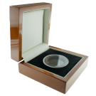 Premium Luxury Single Coin Rosewood Presentation Box
