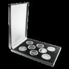 Luxury 8 Coin Presentation Box in Black