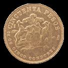 1965 Gold 50-Pesos (Chile)