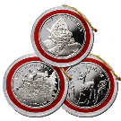 15 x 1oz Christmas Silver Round Set 999.0