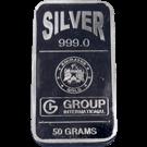 Emirates 50 Gram Silver Bar 999.0
