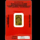 Emirates Gold 5 Gram Certicard Gold Bar