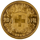 Gold 20 Francs Mixed Years (Switzerland)