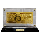 Gold Effect 100 Dollar Note