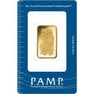 1/2oz Gold Bar PAMP Fortuna Certicard (PO)