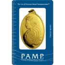 PAMP 1 Ounce Certicard Fortuna Oval Gold Investment Bar