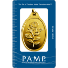 PAMP Half Ounce Rosa Oval Gold Investment Bar