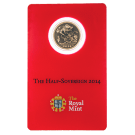2014 Gold Half Sovereign Certicard