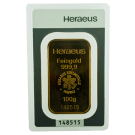100 Gram Gold Bar Heraeus (PO)