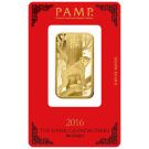 2016 1oz Gold Bar PAMP Lunar Monkey