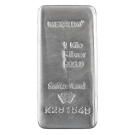 Metalor 1 Kilogram Silver Cast Bar 999.0