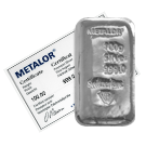 100 Gram Cast Silver Bar Metalor
