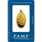 PAMP 10 Gram Rosa Oval Gold Investment Bar