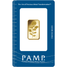 10g Gold Bar PAMP Rosa Certicard