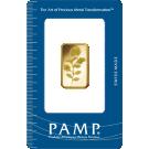 10 Gram Gold Bar PAMP Rosa Certicard