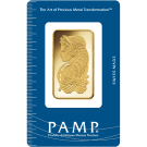 1oz Gold Bar PAMP Fortuna Certicard