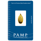 2.5 Gram Oval Gold Investment Bar PAMP Rosa