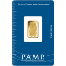 5 Gram Gold Bar PAMP Fortuna Certicard