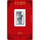 10 Gram Silver Bar PAMP Lunar Horse Certicard