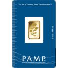 5g Gold Bar PAMP Rosa Certicard