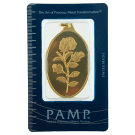 PAMP 1 Ounce Rosa Oval Gold Investment Bar