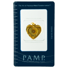 2.5 Gram Gold Bar PAMP Love Heart Holographic Zebra Wheel