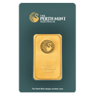 1oz Gold Bar Perth Mint Green Certicard
