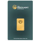 5 Gram Gold Bar Perth Mint Green Certicard (PO)