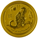 Australian 1/10 Ounce 2016 Gold Lunar Monkey Coin
