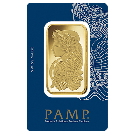 100g Gold Bar PAMP Fortuna Veriscan