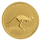 1/4oz Gold Kangaroo - Perth Mint Mixed Years (Australia)