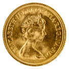 1974-1984 Gold Full Sovereign (Elizabeth II, Decimal Portrait)