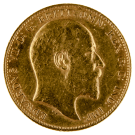 1902-1910 Gold Full Sovereign (King Edward VII)