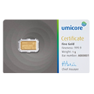 1 Gram Gold Bar Umicore