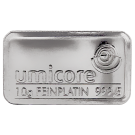 Umicore 10 Gram Platinum Bar 999.5